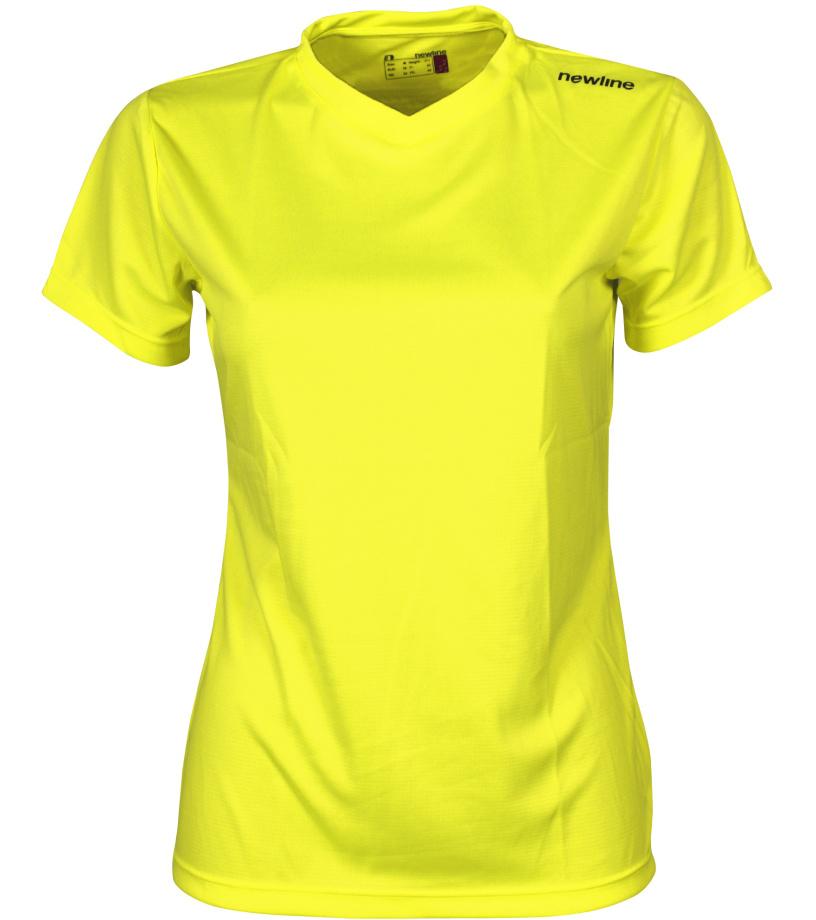 NEWLINE BASE Cool Dámské běžecké tričko 13614-091 neonově žlutá XS