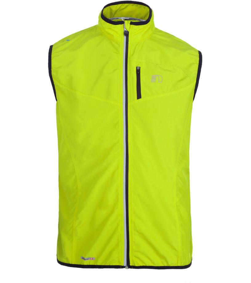 NEWLINE BASE TECH Pánská běžecká vesta 14247-090 neonově žlutá L