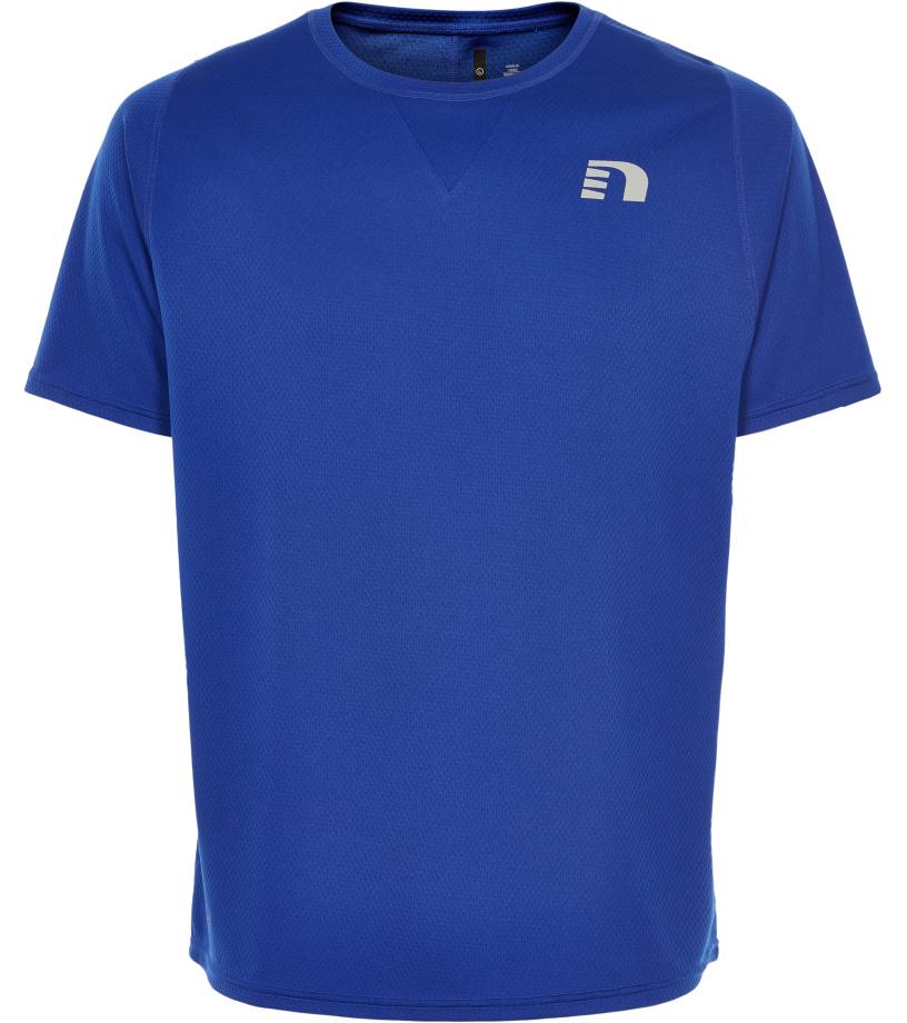NEWLINE BLACK Pánské běžecké tričko 71376-446 Modrá