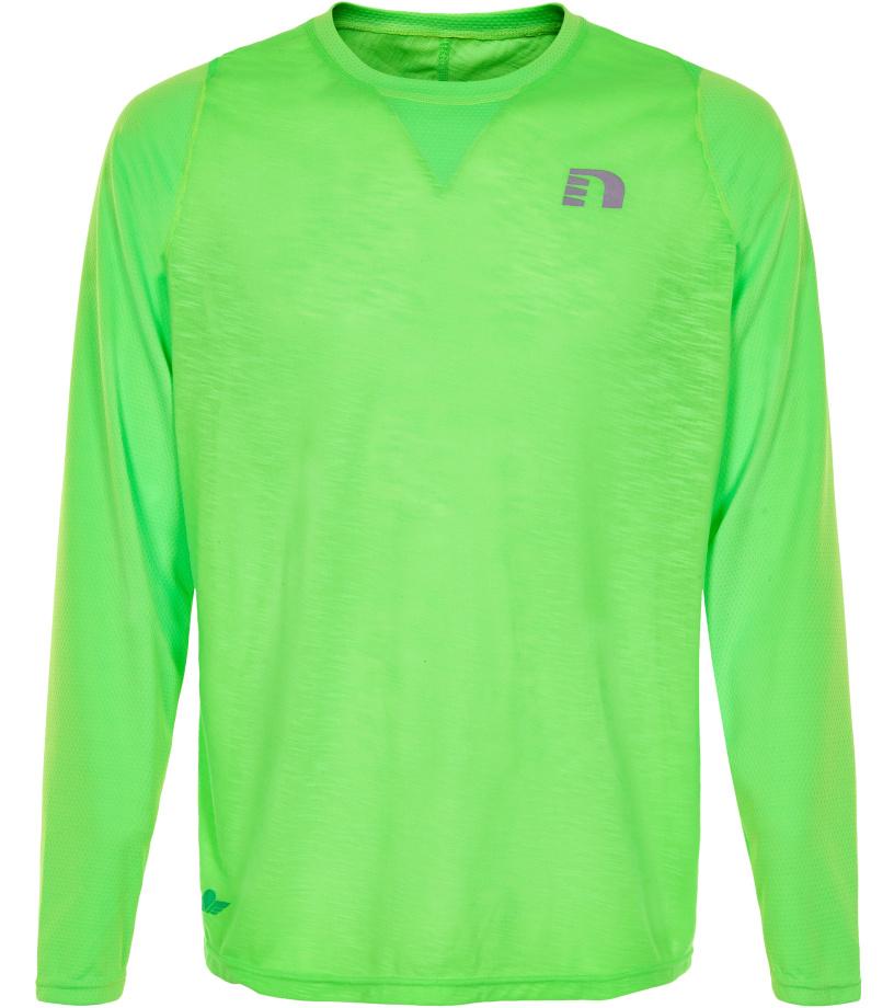 NEWLINE BLACK Pánské běžecké tričko 71377-455 Zelená