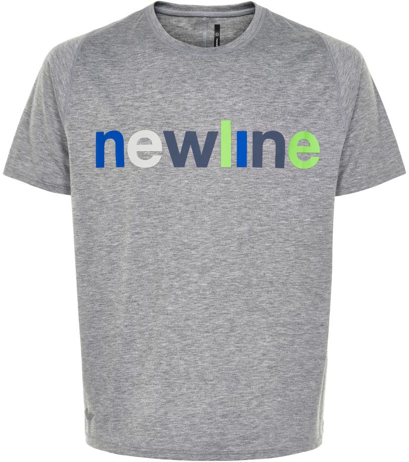 NEWLINE BLACK Pánské běžecké tričko 71412-456 Šedá