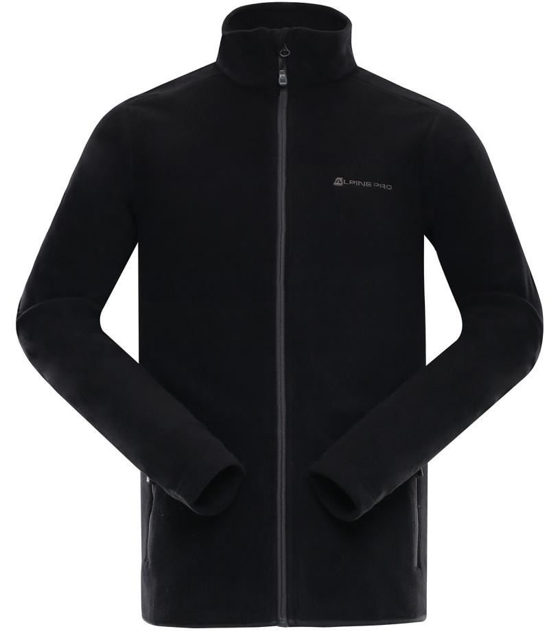 ALPINE PRO CASSIUS 2 Pánská fleece mikina MSWL129990 černá S