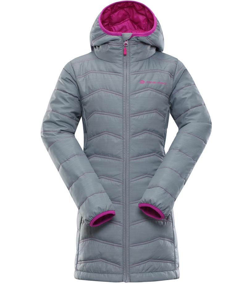 ALPINE PRO ADRIANNO 3 Dětský kabát KCTK007775 šedá 92-98