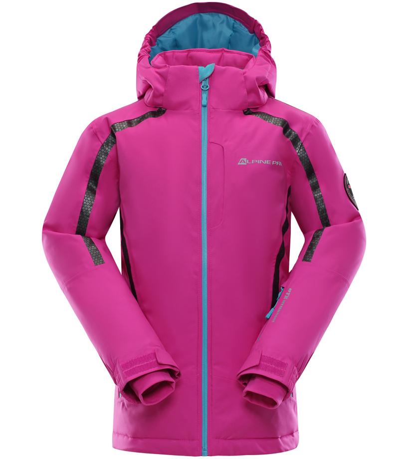 ALPINE PRO MIKAERO Dětská lyžařská bunda KJCK076411 fuchsiová 116-122
