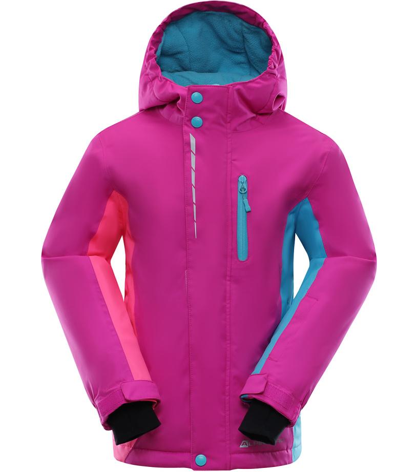 ALPINE PRO WIREMO Dětská lyžařská bunda KJCK077411 fuchsiová 164-170