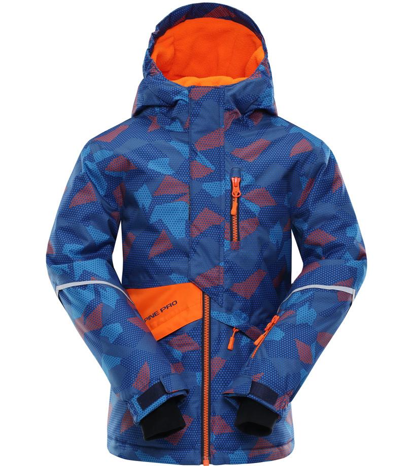 ALPINE PRO AGOSTO Dětská lyžařská bunda KJCK078343 neon pomeranč 116-122