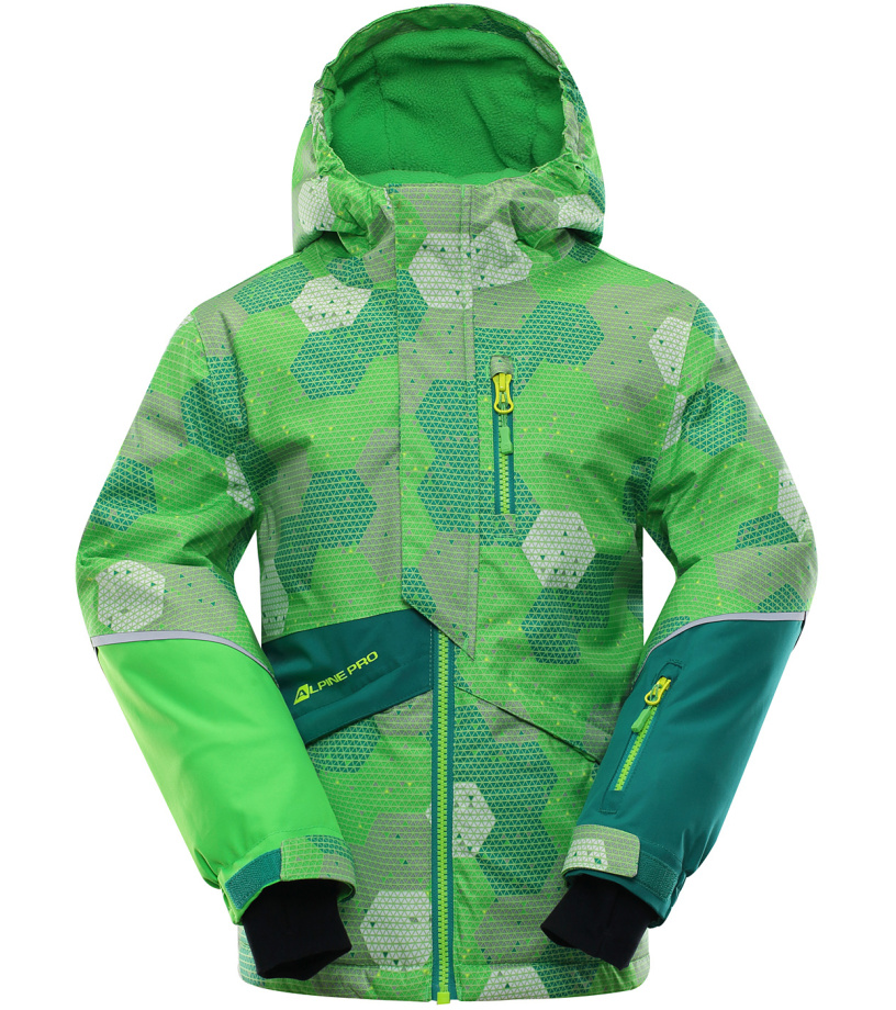 ALPINE PRO AGOSTO Dětská lyžařská bunda KJCK078563 116-122
