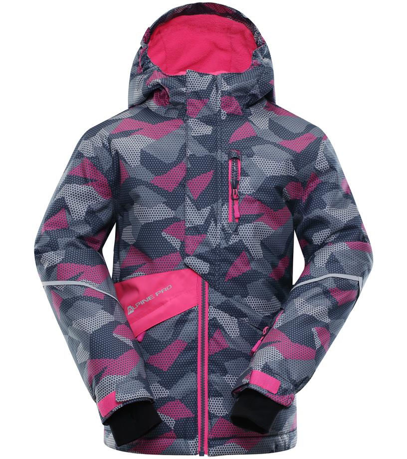 ALPINE PRO AGOSTO Dětská lyžařská bunda KJCK078665 tmavá ocelověmodrá 116-122