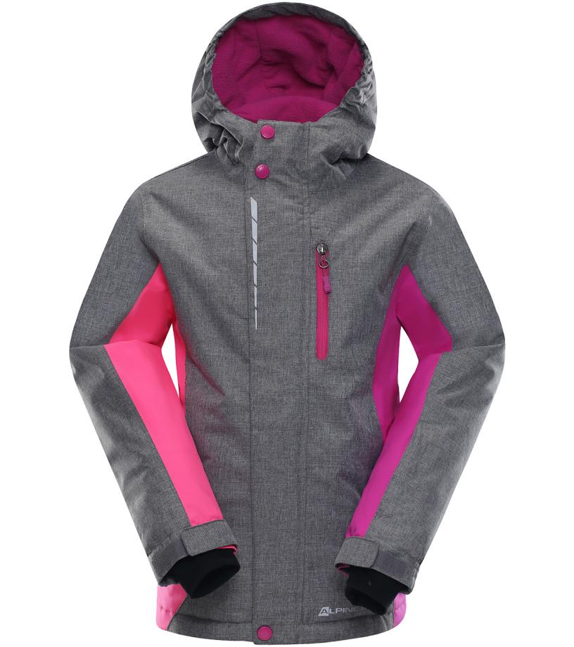 ALPINE PRO WIREMO 2 Dětská lyžařská bunda KJCK081411 fuchsiová 164-170