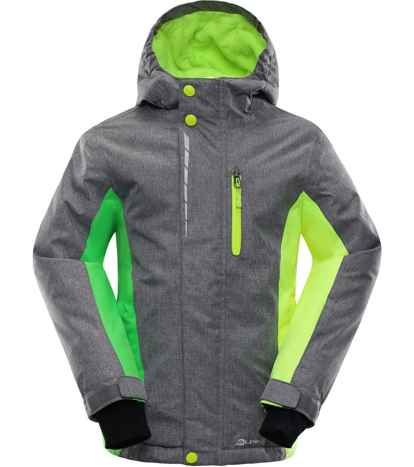 ALPINE PRO WIREMO 2 Dětská lyžařská bunda KJCK081774 šedá 116-122