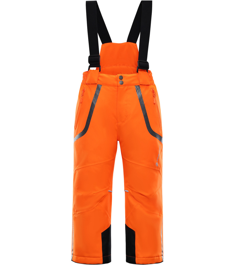 ALPINE PRO NUDDO 2 Dětské lyžařské kalhoty KPAK090343 neon pomeranč 128-134