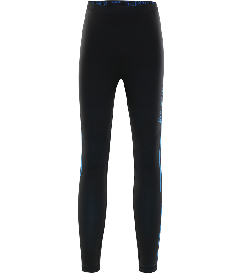 ALPINE PRO KRATHIOSO 2 Dětské spodní kalhoty KUNK011990PA černá S