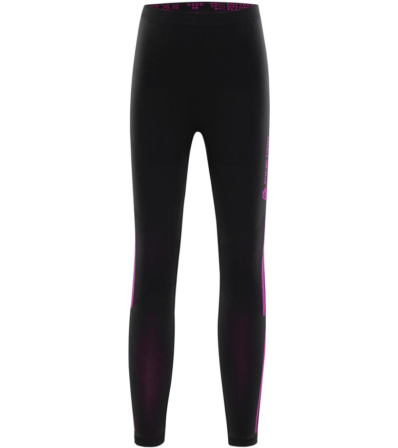 ALPINE PRO KRATHIOSO 2 Dětské spodní kalhoty KUNK011990PB černá M