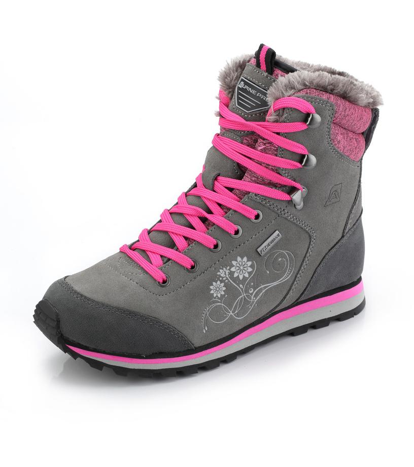 ALPINE PRO XALINA Dámská zimní obuv LBTK143778 cínová 39