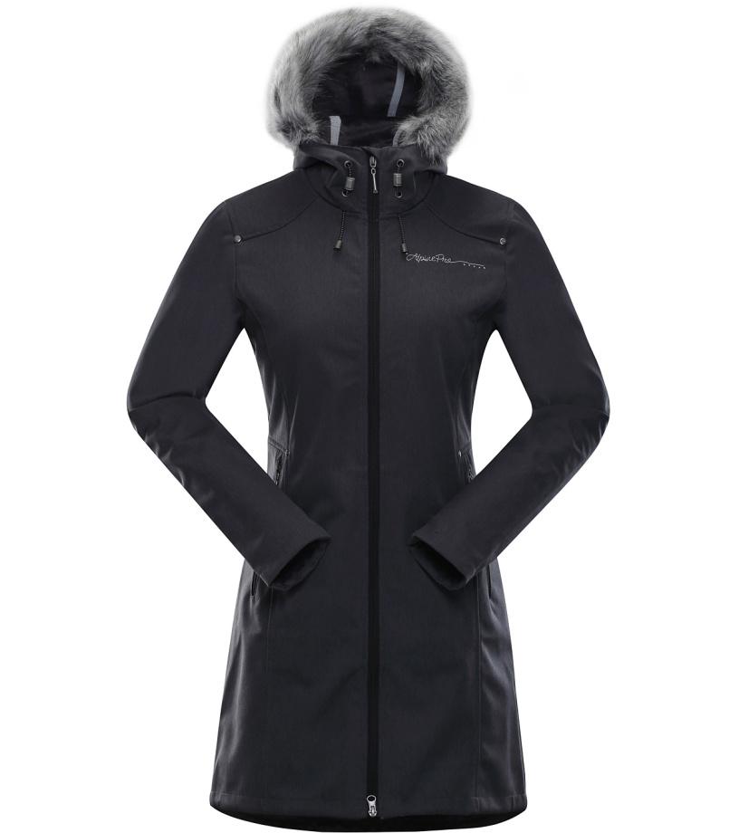 ALPINE PRO PRISCILLA 2 INS. Dámský softshellový kabát LCTK023990 černá M