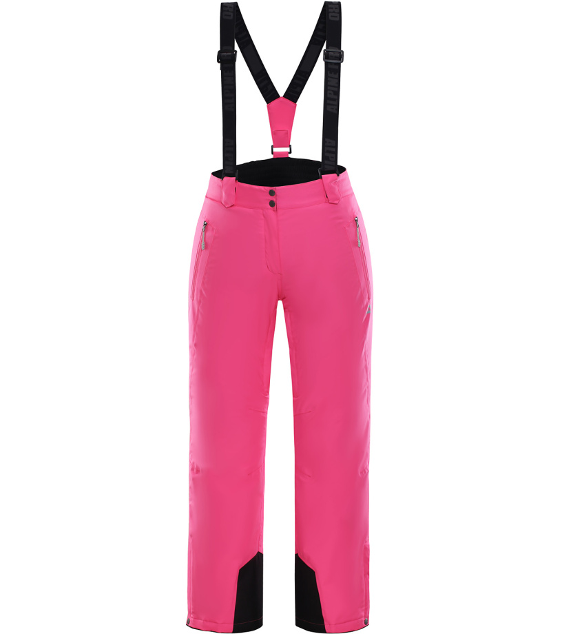 ALPINE PRO MINNIE 3 Dámské lyžařské kalhoty LPAK186452 růžová