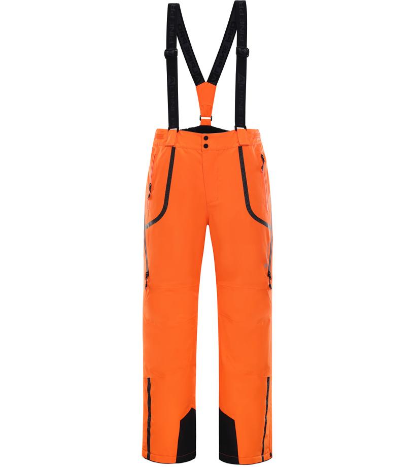ALPINE PRO NUDD 3 Pánské lyžařské kalhoty MPAK210343 neon pomeranč