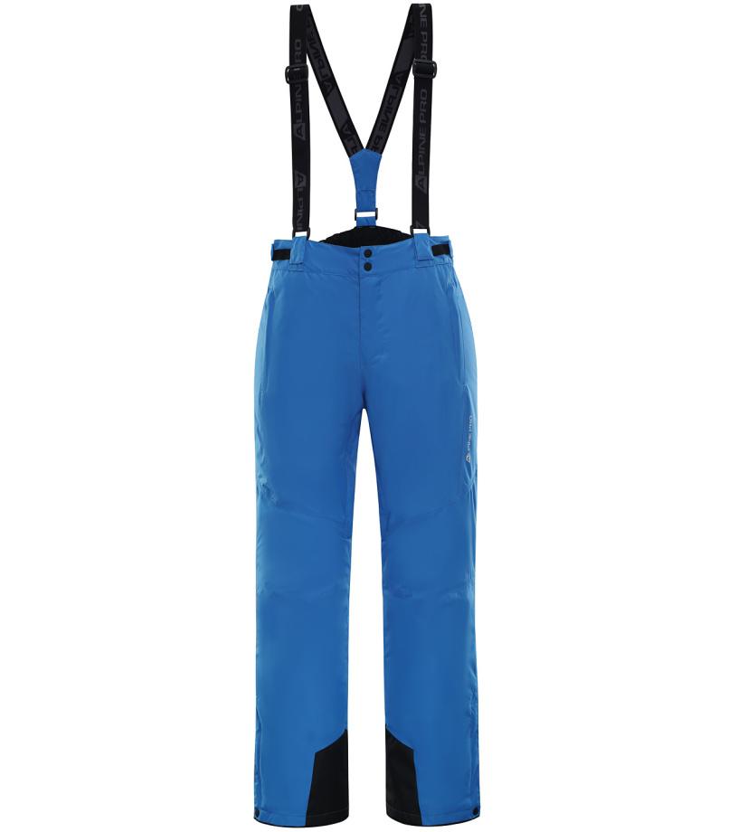 ALPINE PRO SANGO 4 Pánské lyžařské kalhoty MPAK212674 Blue aster