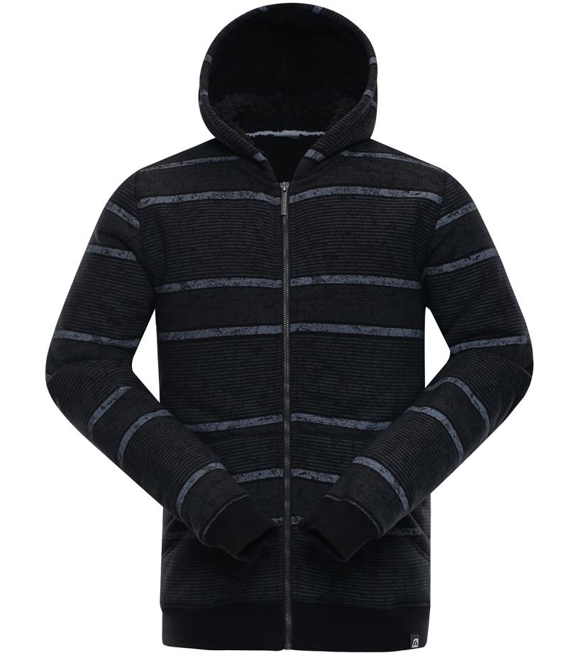 ALPINE PRO DRAG Pánská mikina MSWK117990 černá
