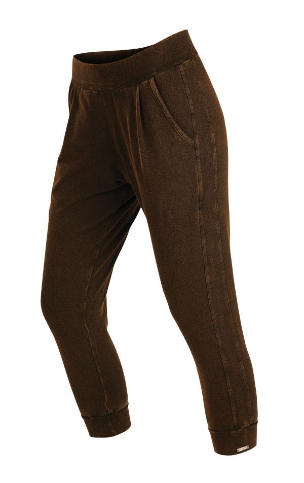 LITEX 5A413 Kalhoty dámské 7/8 se sníženým sedem hnědočerná XL