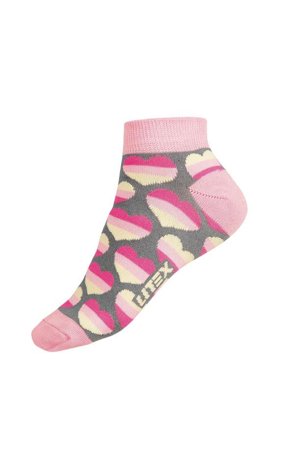 LITEX Designové ponožky nízké 9A004116 šedá 28-29