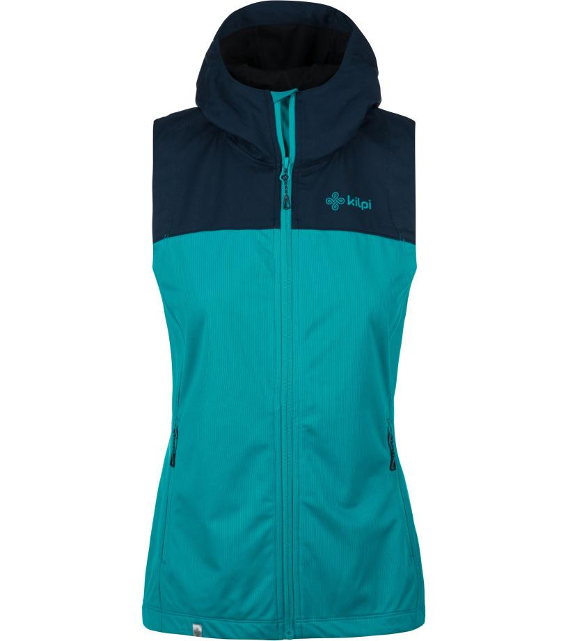 KILPI Dámská outdoorová vesta - větší velikosti PAMIR-W KLX045KITRQ Tyrkysová 50