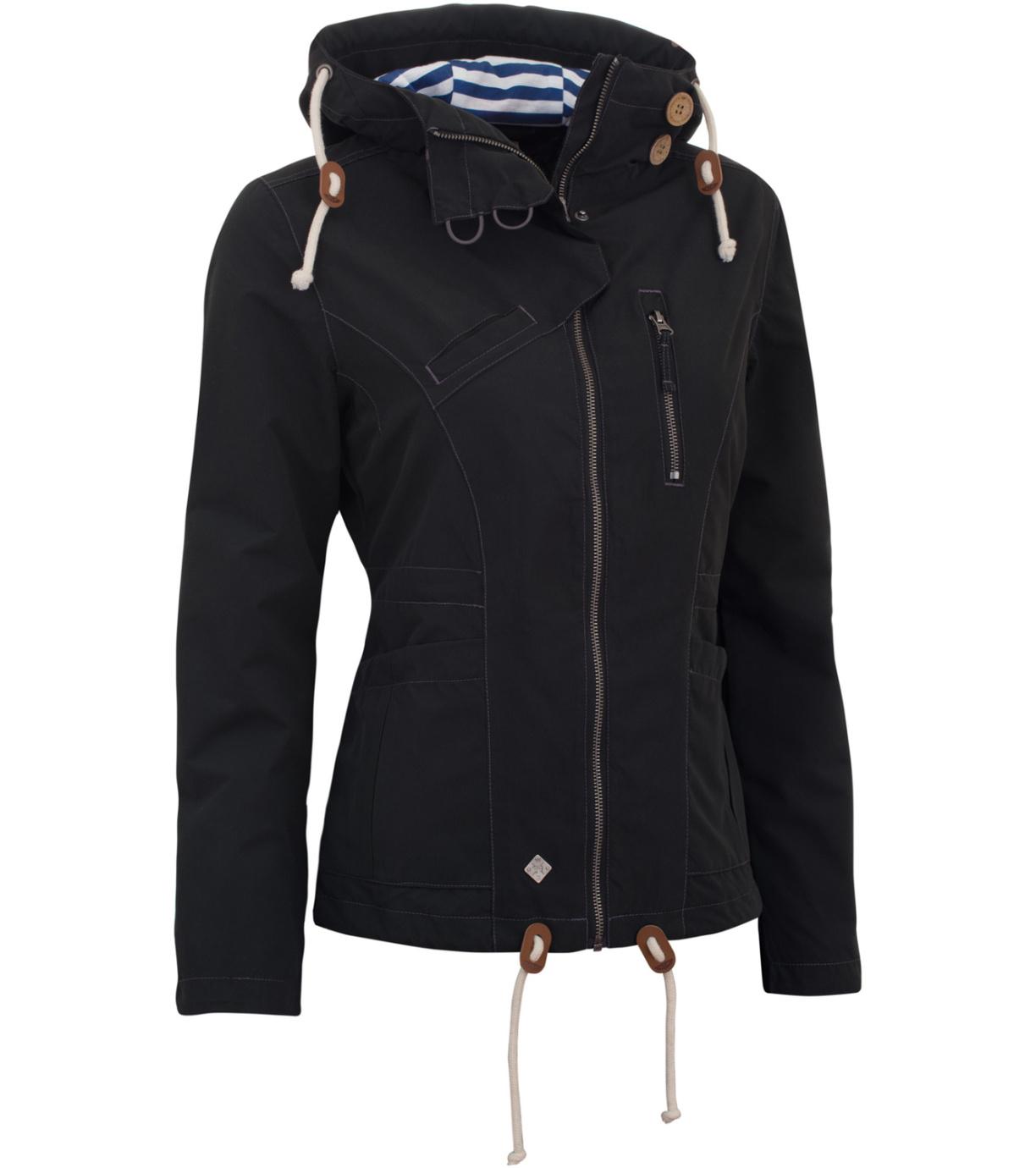 WOOX Větrovka Drizzle Jacket Ladies´ Dark wx1614105 34