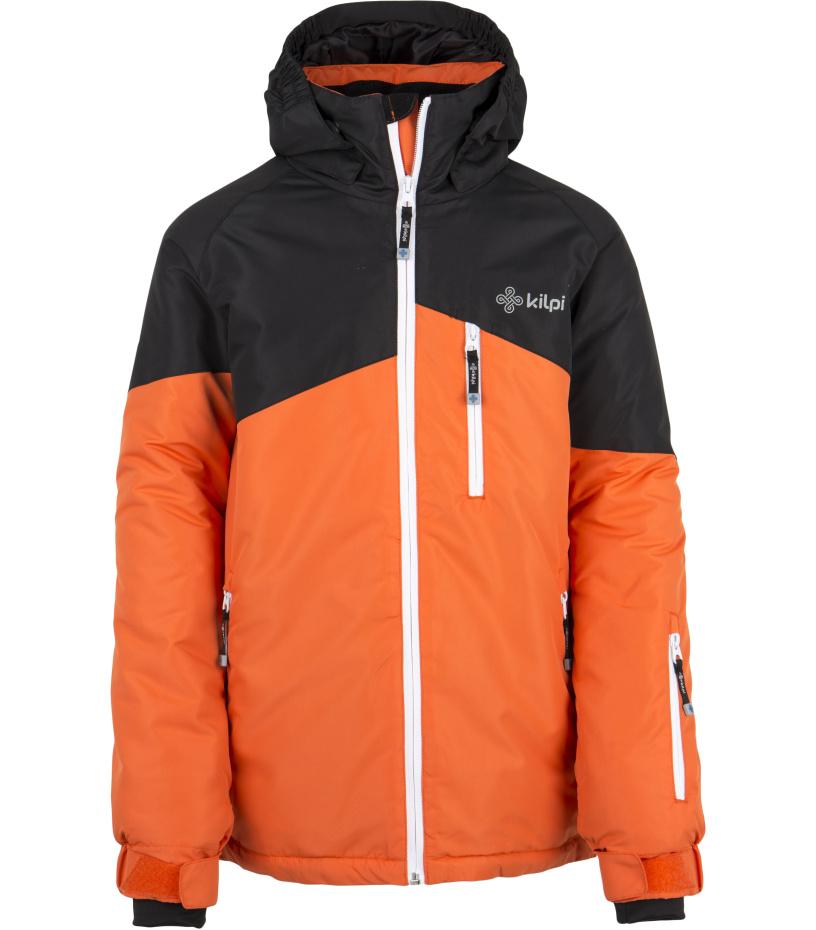 KILPI Chlapecká lyžařská bunda OLIVER-JB DJ0015KIORN Oranžová 122_128