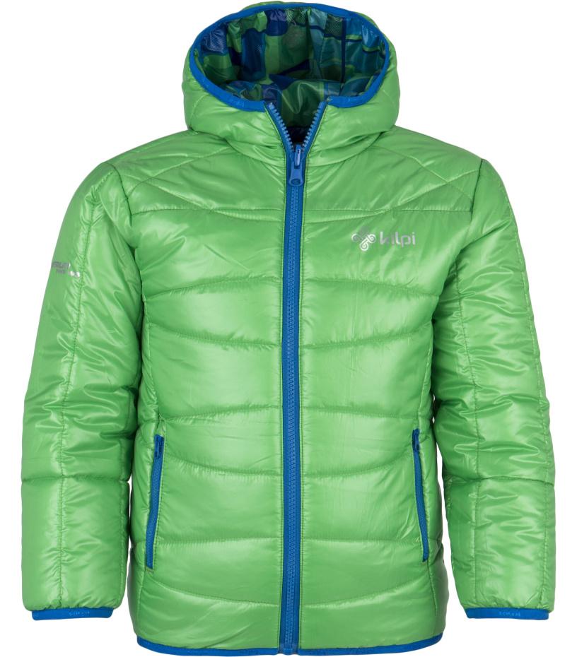 KILPI Dětská lyžařská bunda ORTON-JB DJ0018KIGRN Zelená 146
