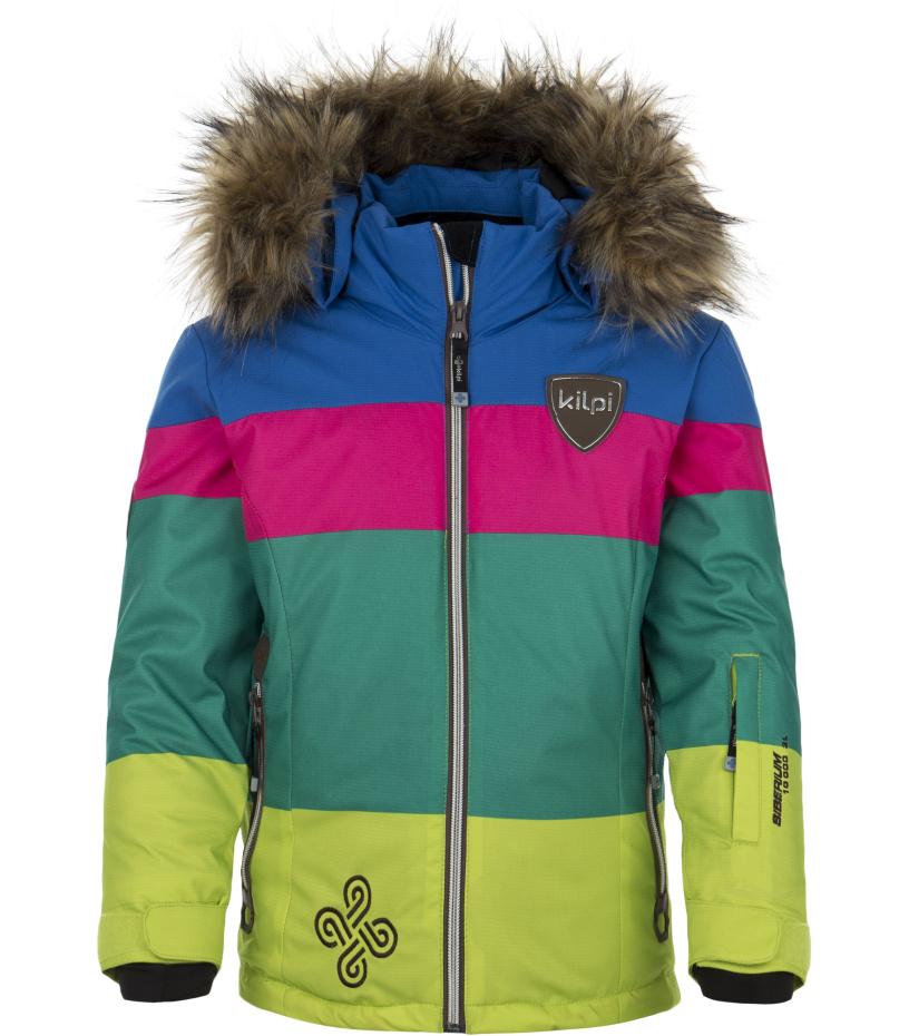 KILPI Dívčí lyžařská bunda EUFANA-JG DJ0040KIGRN Zelená 152