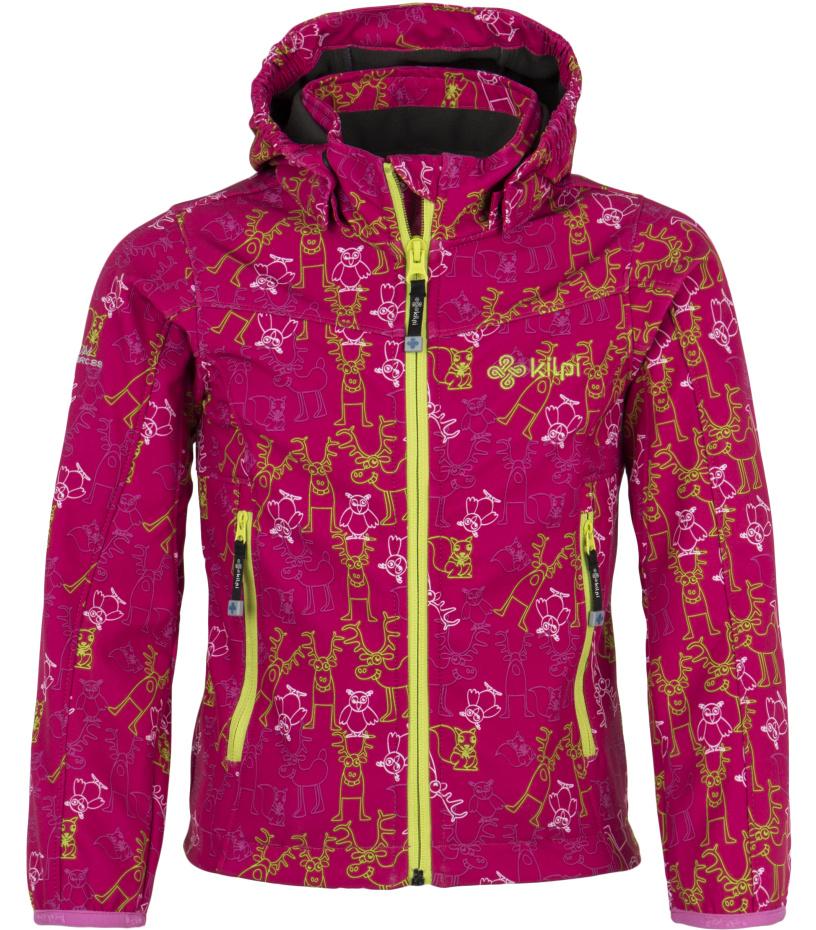 KILPI Dětská softshellová bunda ELIA-JG DJ0043KILPN Světle růžová 98_104