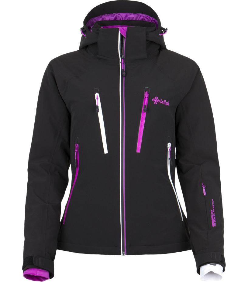 KILPI Dámská lyžařská bunda LILLIAN DL0097KIBLK Černá 42