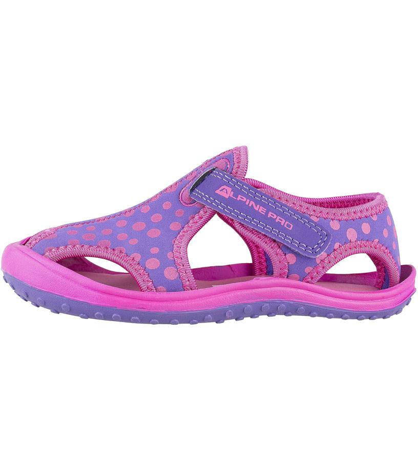 ALPINE PRO PUNITA Dětská obuv letní KBTJ142412 cabaret 25