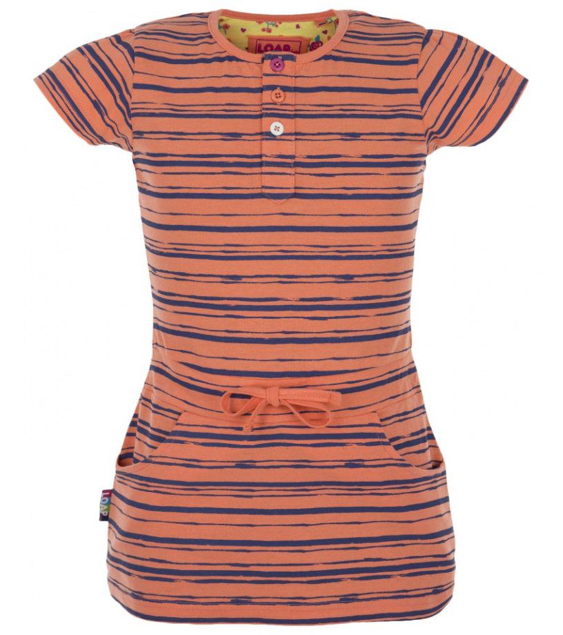 LOAP IMA Dětské šaty .L6019E28X oranžová 140