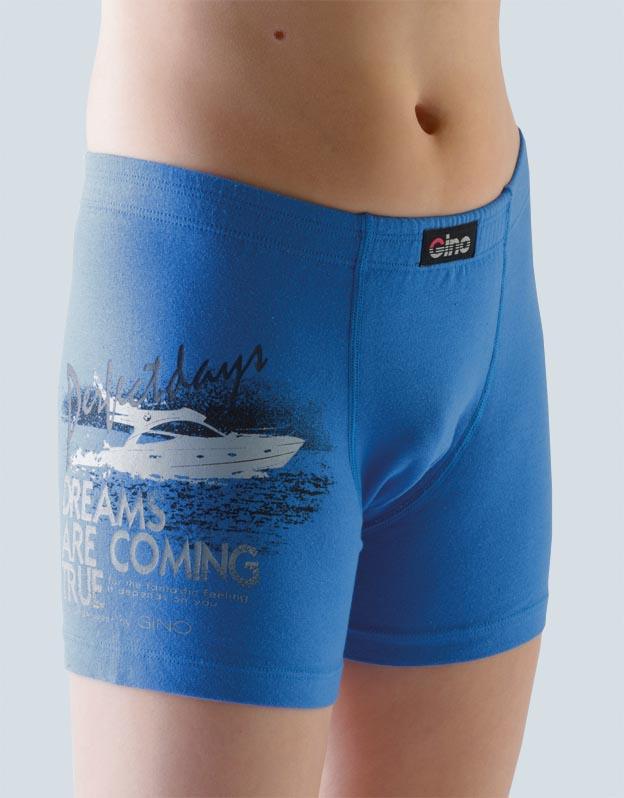 GINA Chlapecké boxerky s delší nohavičkou 64002-DBM atlantic