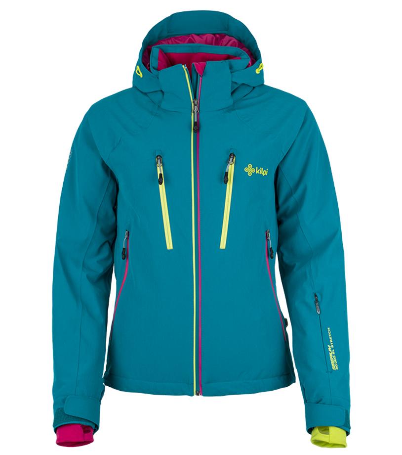 KILPI Dámská lyžařská bunda LILLIAN DL0097KITRQ Tyrkysová 42