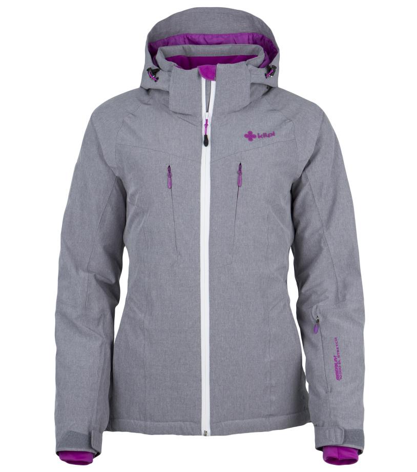 KILPI Dámská lyžařská bunda ADDISON DL0099KILGY Šedá 42