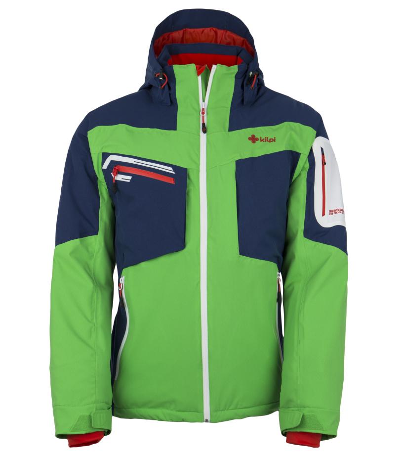 KILPI Pánská lyžařská bunda BENJAMIN DM0060KIGRN Zelená S