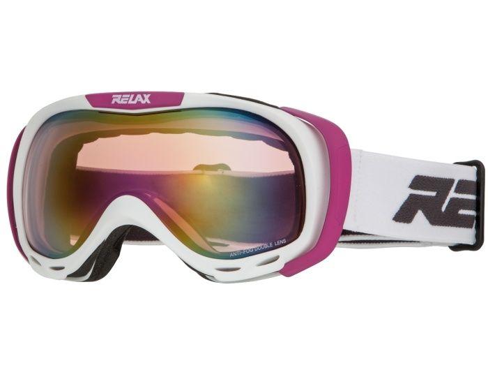 RELAX AIRFLOW Lyžařské brýle HTG22L bílá -