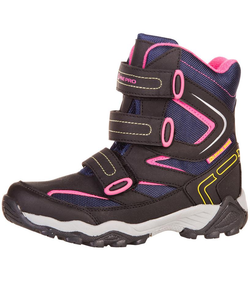 ALPINE PRO DAIRO Dětská zimní obuv KBTF113622 tyrkysová 35
