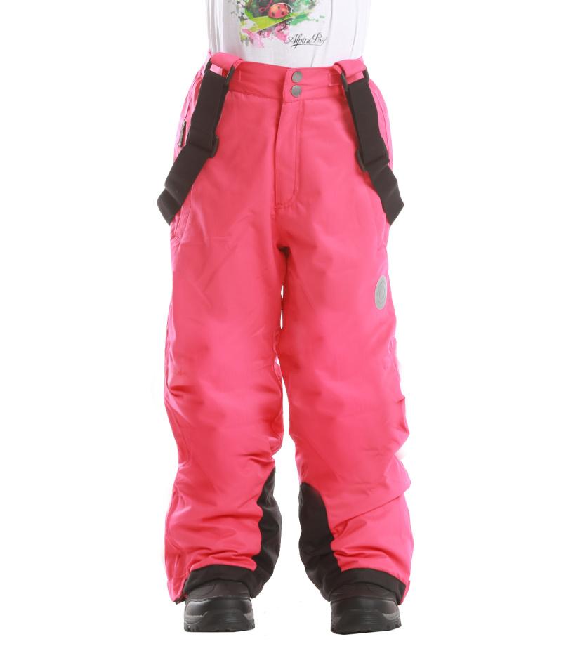 ALPINE PRO SEZI Dětské kalhoty KPAD029443 malinová 104-110