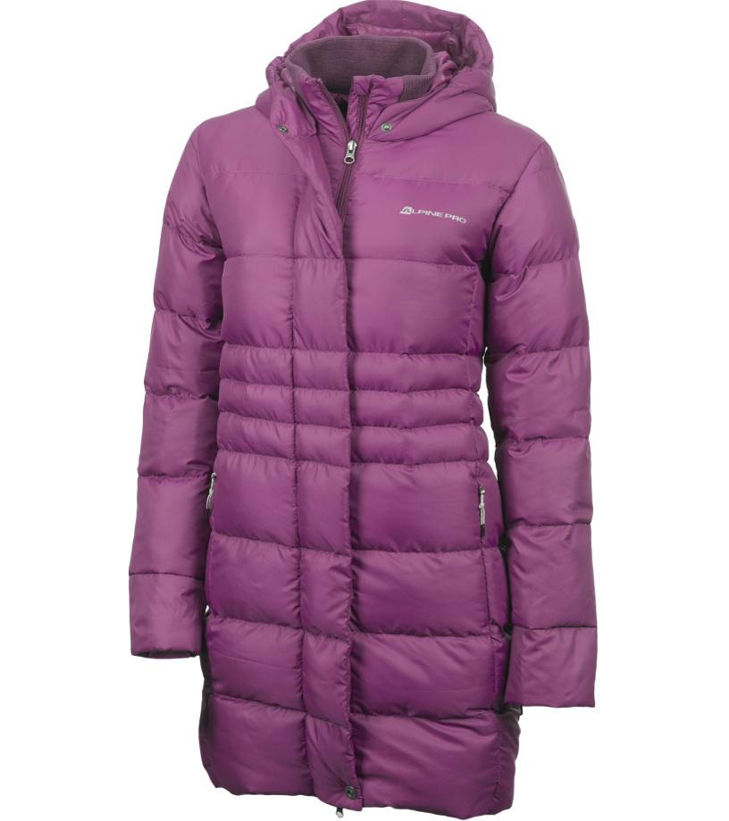 ALPINE PRO OMEGA Dámský kabát LCTF001824 sparkling grape S
