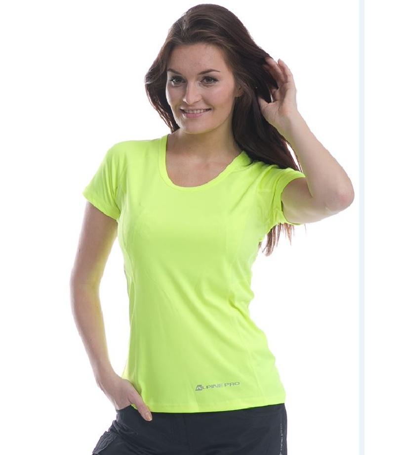 ALPINE PRO CORTESE Dámské triko LTSE039530 reflexní žlutá XXL