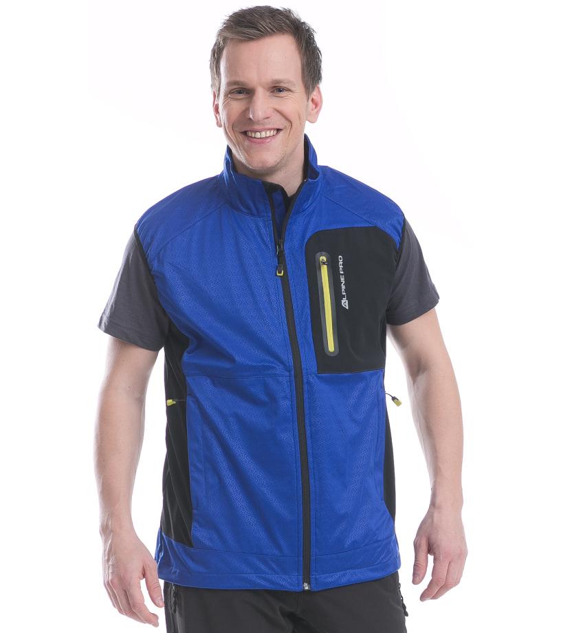 ALPINE PRO ASKLEPIOS 2 Pánská softshell vesta MVEE013688 ultra blue XXL