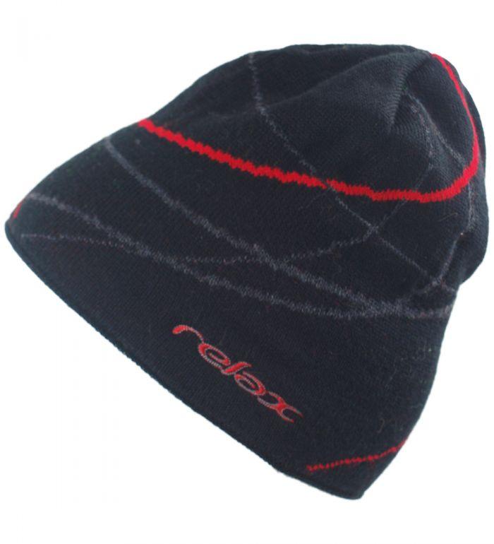 RELAX MOVE Zimní čepice RKH27C černá/červená
