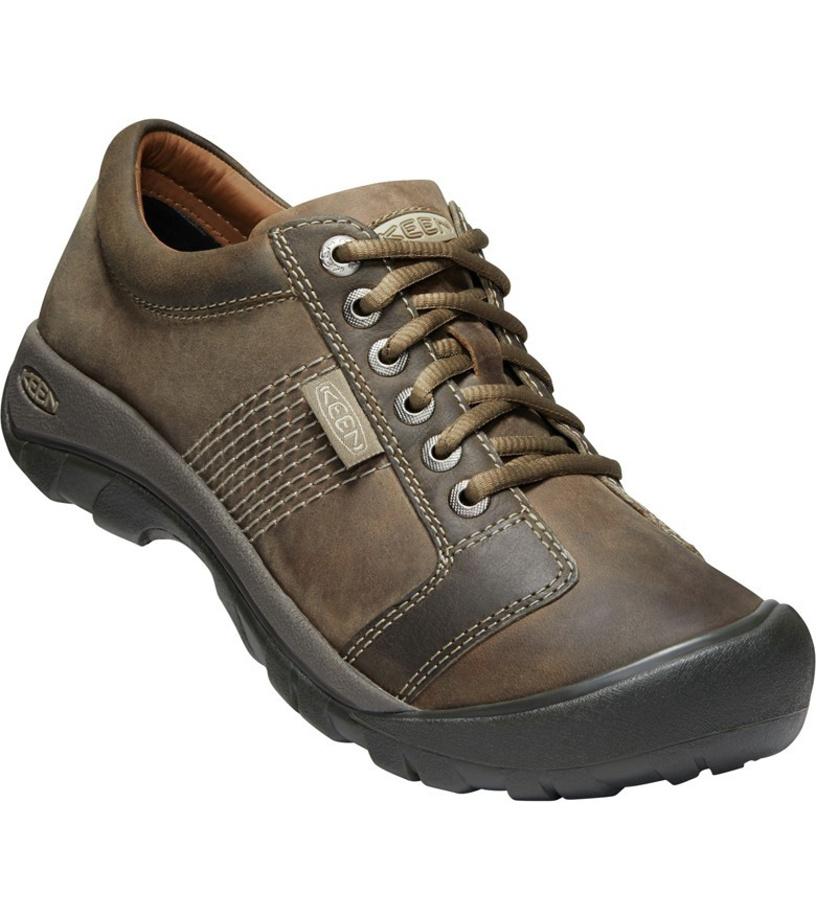 KEEN Austin M Pánské kožené boty 10000717KEN01 brindle/bungee cord 10,5(45)