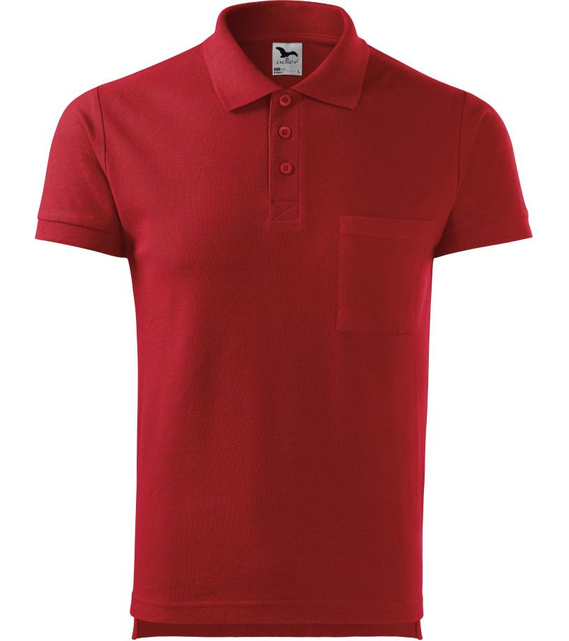 ADLER Cotton Pánská polokošile 22X07 červená S