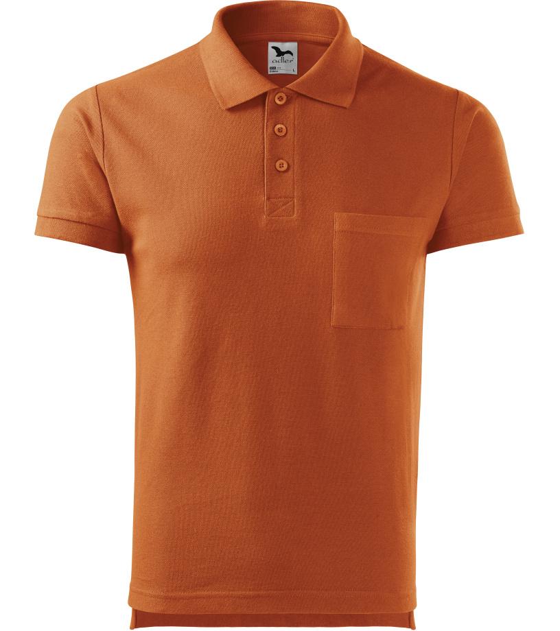 ADLER Cotton Pánská polokošile 22X11 oranžová S