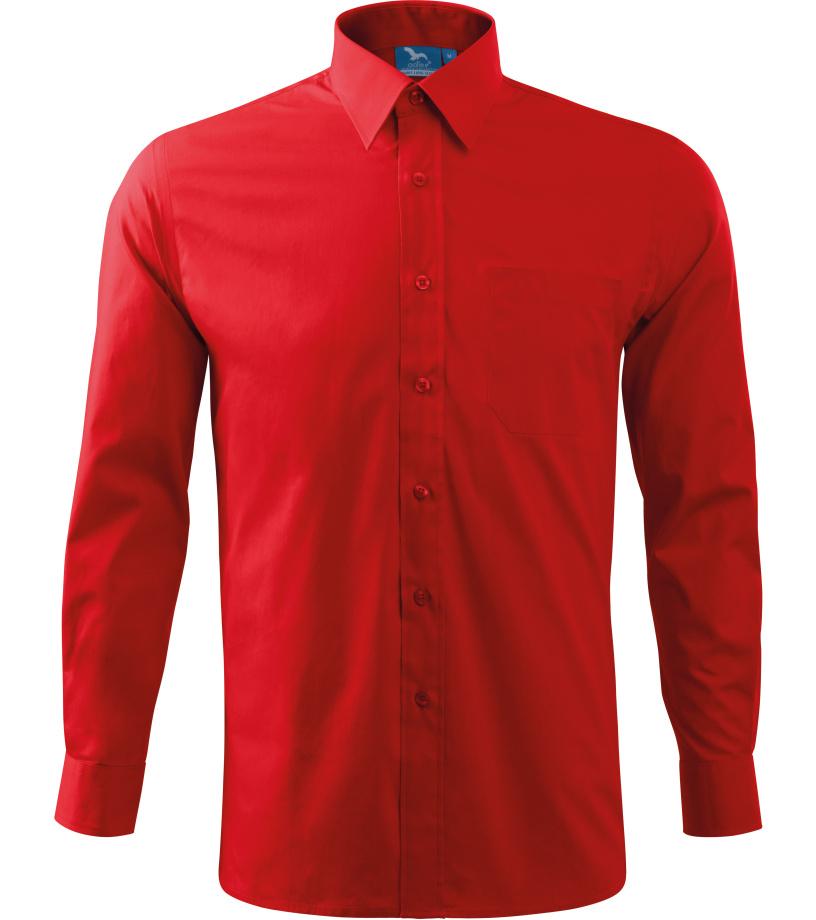 ADLER Shirt Long Sleeve Pánská košile 2x907 červená XXXL