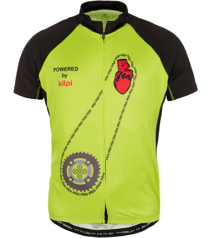 KILPI Cyklistický dres TORQUE EM0004KILGN Zelená
